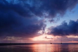 Beautiful sunset at Ambrym, Vanuatu